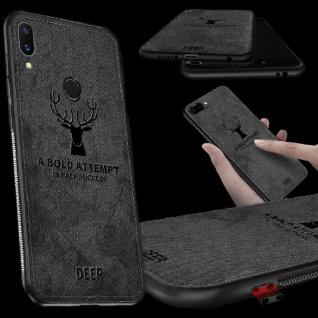 Premium Tasche Silikon Kunstleder Schwarz für Huawei Mate 20 Lite Hülle Case Neu