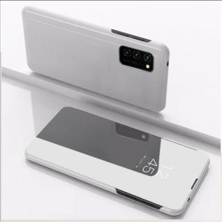 Für Huawei P Smart 2021 View Smart Cover Hülle Silber Handy Tasche Etui Wake UP
