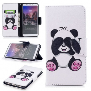 Für Samsung Galaxy A7 A750F Kunstleder Tasche Book Motiv 23 Hülle Case Cover Neu