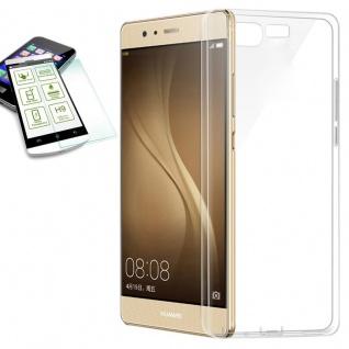 Silikoncase Transparent Tasche + 0, 3 H9 Hartglas für Huawei P10 Plus Hülle Neu