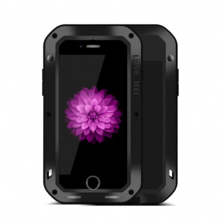 Love MEI Outdoor Metall Bumper Hülle für Apple iPhone 7 Plus Schutzhülle Schwarz