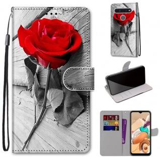 Für LG K41S / K51S Kunst-Leder Handy Tasche Motiv 3 Hülle Etuis Cover Schutz Neu