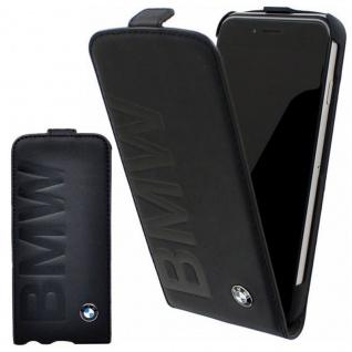 BMW Leder Tasche Etui Hülle für Apple iPhone X / XS 5.8 Flip Schutzhülle Black