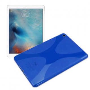 Schutzhülle Silikon X-Line Blau Hülle für Apple iPad Mini 4 7.9 Tasche Case Neu