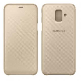 Samsung Wallet Cover Hülle EF-WA600CFEGWW Galaxy A6 2018 A600F Schutzhülle Gold
