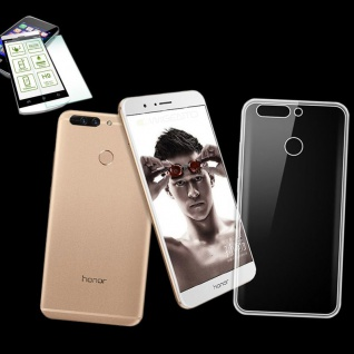 Silikoncase Transparent Tasche + 0, 3 H9 Hartglas für Huawei Honor 8 Pro Hülle