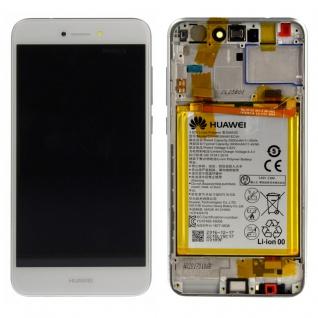 Huawei Display LCD Einheit + Rahmen für P8 Lite 2017 Service Pack 02351DLU weiß