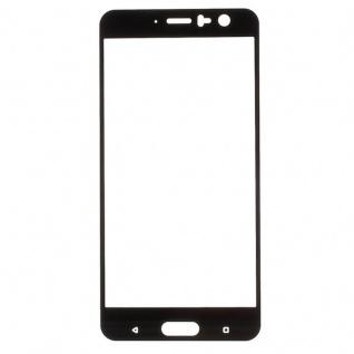 3D Premium 0, 3 mm gebogenes H9 Hart Glas Schwarz Folie für HTC U11 Schutz Neu