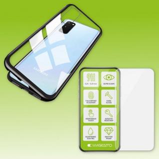 Für Samsung Galaxy S20 FE Magnet Tasche Hülle Schwarz / Transparent + H9 Glas