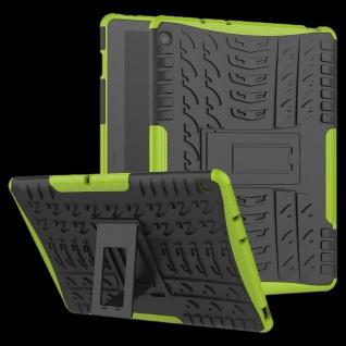 Für Huawei MediaPad M5 Lite 10.1 Zoll Hybrid Outdoor Hülle Grün Tasche Cover Neu