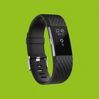 Für Fitbit Charge 2 Kunststoff / Silikon Armband für Männer / Größe L Schwarz