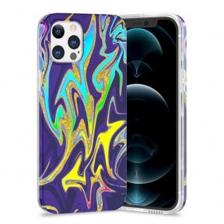 Für Apple iPhone 12 / 12 Pro TPU Watercolor Schutz Hülle Cover Etui Motiv 3