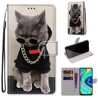 Für Xiaomi Redmi Note 9S / 9 Pro Kunst-Leder Handy Tasche Motiv 2 Hülle Etuis