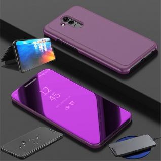 Für Huawei P30 Clear View Smart Cover Magenta Etuis Tasche Hülle Wake UP Case