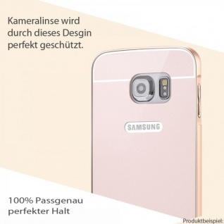 Alu Bumper 2 teilig m. Abdeckung Schwarz für Samsung Galaxy S6 G920 G920F Tasche - Vorschau 2