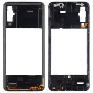 Back Housing Frame für Samsung Galaxy A50 Schwarz Bezel Plate Ersatz Reparatur