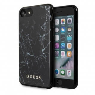 Guess Marble Collection Apple iPhone 7 / 8 / SE 2020 Schwarz Marmor Case Cover