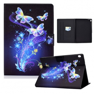 Für Lenovo Tab M10 10.1 Motiv 2 Tablet Tasche Kunst Leder Hülle Etuis Cover Case