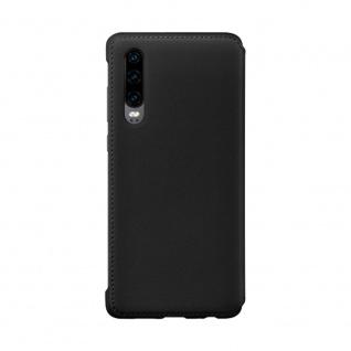 Wallet Cover Schwarz für Huawei P30 51992854 Case Tasche Etui Schale Abdeckung