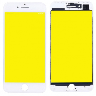 Display Glas für Apple iPhone 7 4.7 LCD Displayglas + Rahmen + OCA Kleber Weiß