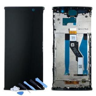 Sony Display LCD für 78PC5100020 Xperia XA2 Plus Reparatur + Rahmen Silber Neu