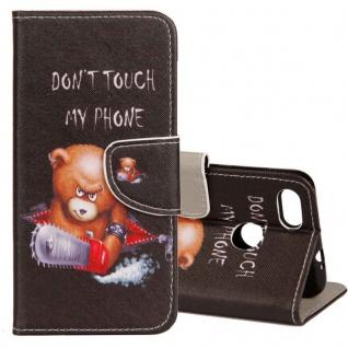 Tasche Wallet Book Cover Motiv 20 für Huawei P Smart Hülle Case Etui Schutz Neu