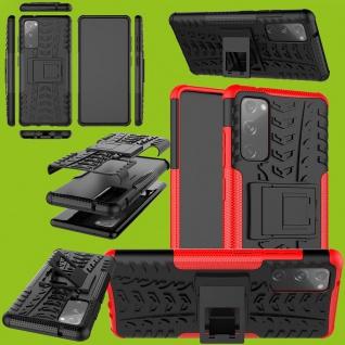 Für Samsung Galaxy S20 FE Hybrid Case Outdoor Rot Handy Tasche Etuis Cover Etuis