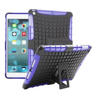 Für Apple iPad 9.7 2018 Hybrid Outdoor Schutzhülle Case Lila Tasche Cover Etui