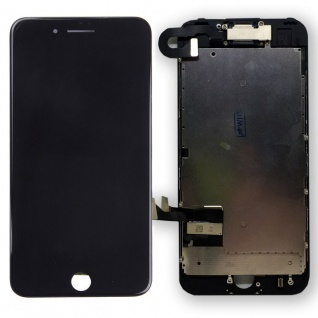 All in One Display LCD Komplett Einheit Touch für Apple iPhone 7 Schwarz Premium