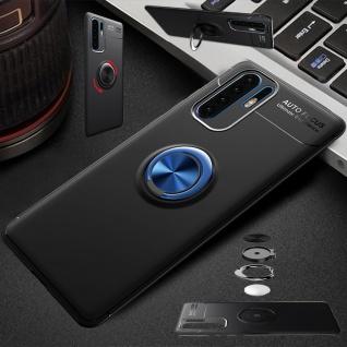 Für Huawei Y6 2019 Magnet Metall Ring ultra dünn Schwarz / Blau Tasche Etuis