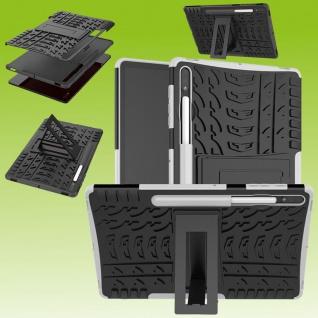 Für Samsung Galaxy Tab S7 Plus / S7 FE Hybrid Weiß Tablet Tasche Etuis Hülle Case Cover