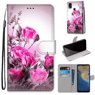 Für ZTE Blade A51 Kunst-Leder Handy Tasche Motiv 2 Hülle Etuis Case Cover Schutz