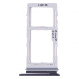 Dual Sim / Micro SD Karten Halter für Samsung Galaxy Note 10 Plus Schwarz