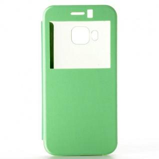 Smartcover Window Grün für HTC One 3 M9 Tasche Cover Case Hülle Etui Zubehör Neu - Vorschau 5