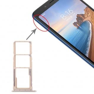 Sim Card Tray für Xiaomi Redmi 7A Gold Karten Halter Schlitten Holder Ersatzteil