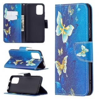 Für Xiaomi Redmi Note 10 4G / 10s Kunst-Leder Handy Tasche Motiv 2 Hülle Etuis