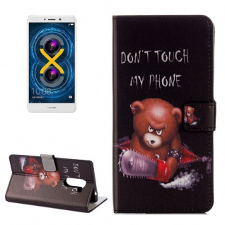 Schutzhülle Muster 71 für Huawei Honor 6X Bookcover Tasche Case Hülle Wallet Etui