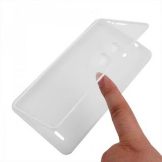 Design Cover mit Frontabdeckung Transparent für Huawei Ascend Mate 7 Tasche Neu