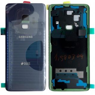 Samsung GH82-15875B Akkudeckel Deckel für Galaxy S9 Duos + Klebepad Blau Cover
