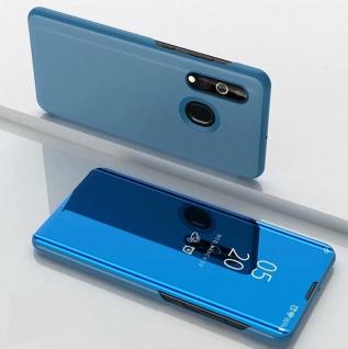 Für Samsung Galaxy A20e Clear View Smart Cover Blau Etuis Tasche Hülle Wake UP