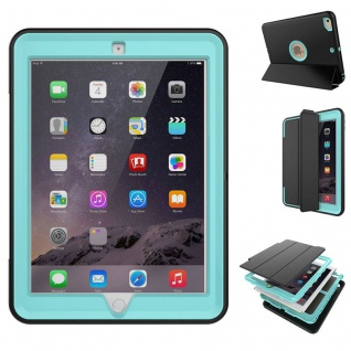 Hybrid Outdoor Schutzhülle Cover Hellblau für Apple iPad Pro 12.9 Tasche Case