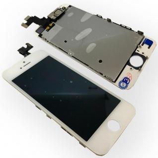 All in One Display LCD Komplett Ersatz Touch kompatibel Apple iPhone 5S Weiß Neu - Vorschau 1