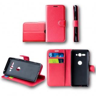 Für Huawei Mate 20 Lite Tasche Wallet Rot Hülle Case Cover Book Etui Schutz Neu