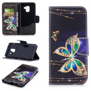 Tasche Wallet Premium Motiv 28 für Samsung Galaxy A8 2018 A530F Hülle Case Etui