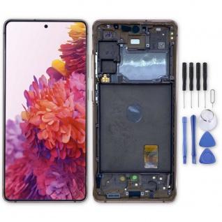 Samsung Display LCD Kompletteinheit für Galaxy S20 FE 5G GH82-24214F Orange