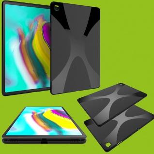 Silikon TPU X-Line Schwarz Hülle Tasche für Samsung Galaxy Tab S6 Lite P610 P615