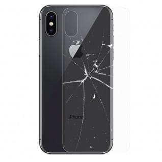 0, 26 mm H9 Hart Glas Rückseite Akkudeckel für Apple iPhone XS MAX 6.5 Zoll Folie