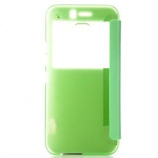 Smartcover Window Grün für HTC One 3 M9 Tasche Cover Case Hülle Etui Zubehör Neu - Vorschau 2