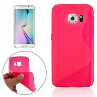 Silikonhülle S-Line Pink Cover Case für Samsung Galaxy S6 Edge G925 G925F Tasche