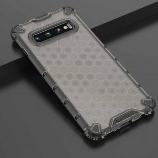 Für Samsung Galaxy S10 G973F Schock Hybrid Silikon TPU Grau Tasche Hülle Etuis